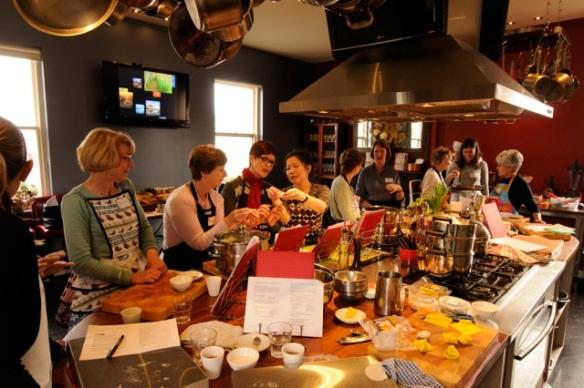 Trupp Cooking School Dumpling class 20130629